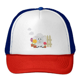 Gardening Sheep with flowers Z67e8 Trucker Hat