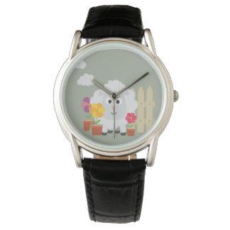 Gardening Sheep with flowers Z67e8 Watch