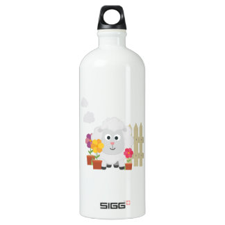 Gardening Sheep with flowers Z67e8 Water Bottle
