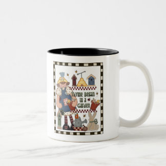 Gardening Wisdom Two-Tone Coffee Mug