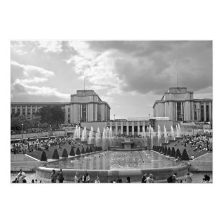 Gardens and the Trocadero Square Photo Print