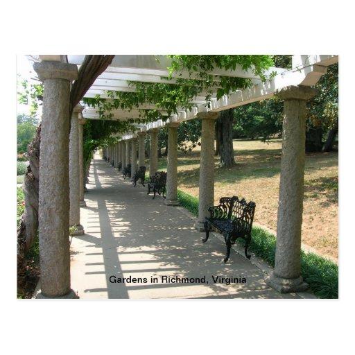 Gardens at Park in Pichmond Postcard