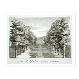 Gardens at Tshehar-Bagh, Isfahan, from' Voyages du Postcard