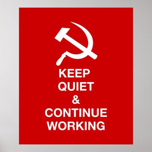 Gardez la tranquillité et continuez de travailler posters