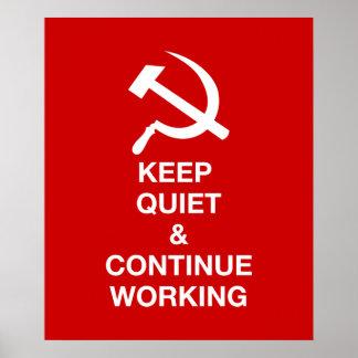 Gardez la tranquillité et continuez de travailler poster