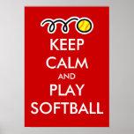 Gardez l'affiche du base-ball de calme et de jeu