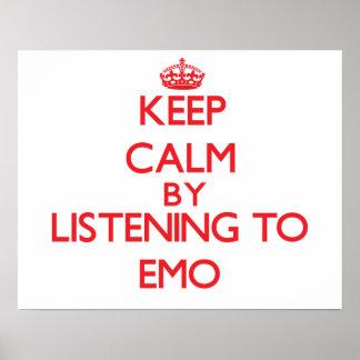 Gardez le calme en écoutant EMO Poster