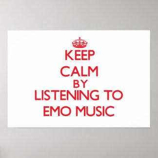 Gardez le calme en écoutant la MUSIQUE d'EMO Affiche