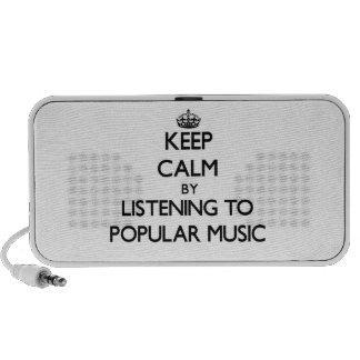 Gardez le calme en écoutant la MUSIQUE POPULAIRE Haut-parleur Ordinateur Portable