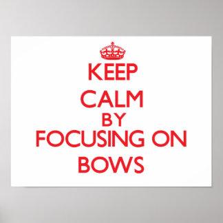 Gardez le calme en se concentrant sur des arcs posters