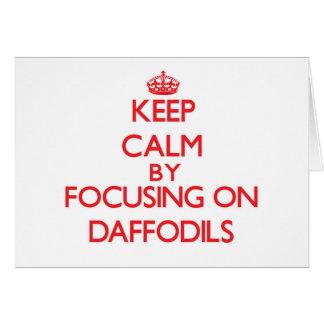 Gardez le calme en se concentrant sur des carte