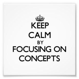Gardez le calme en se concentrant sur des concepts