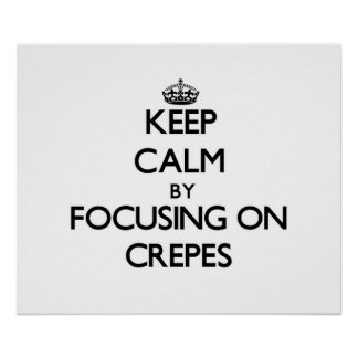 Gardez le calme en se concentrant sur des crêpes