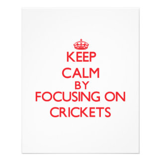 Gardez le calme en se concentrant sur des crickets prospectus