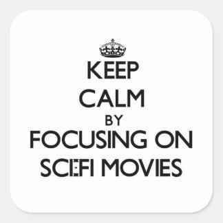Gardez le calme en se concentrant sur des films de sticker carré