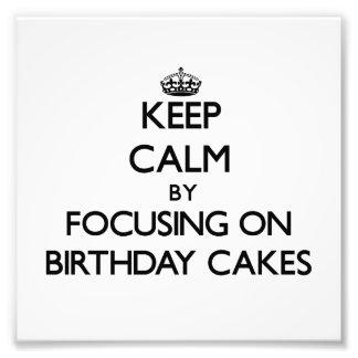 Gardez le calme en se concentrant sur des gâteaux