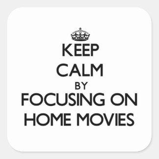 Gardez le calme en se concentrant sur des homes sticker carré
