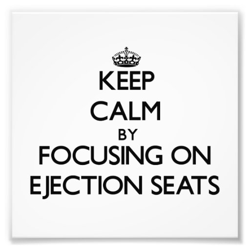 Gardez le calme en se concentrant sur des sièges é  tirage photo
