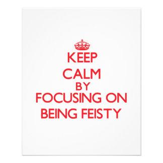 Gardez le calme en se concentrant sur être prospectus avec motif