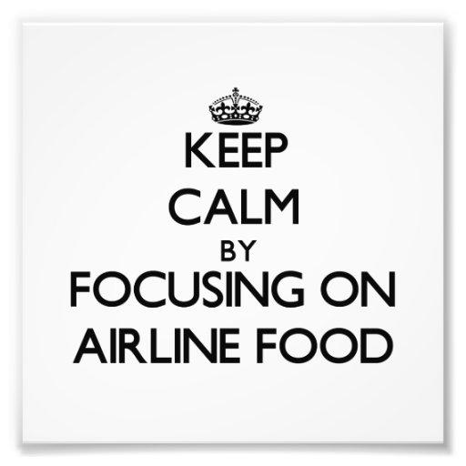 Gardez le calme en se concentrant sur la nourritur photo sur toile