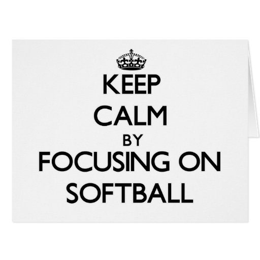 Gardez le calme en se concentrant sur le base-ball cartes de vœux
