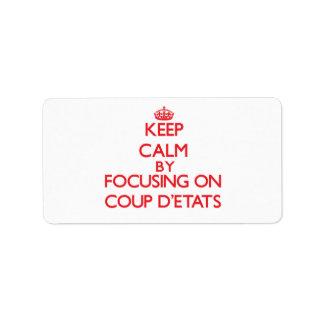 Gardez le calme en se concentrant sur le coup étiquette d'adresse