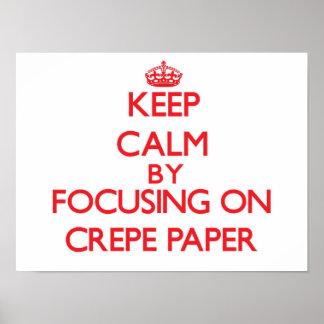 Gardez le calme en se concentrant sur le papier de posters