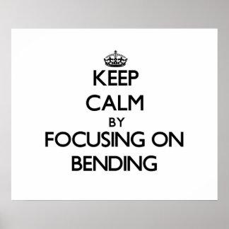 Gardez le calme en se concentrant sur le recourbem