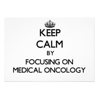 Gardez le calme en se concentrant sur l'oncologie invitations personnalisées
