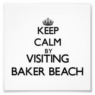 Gardez le calme en visitant la plage la Californie