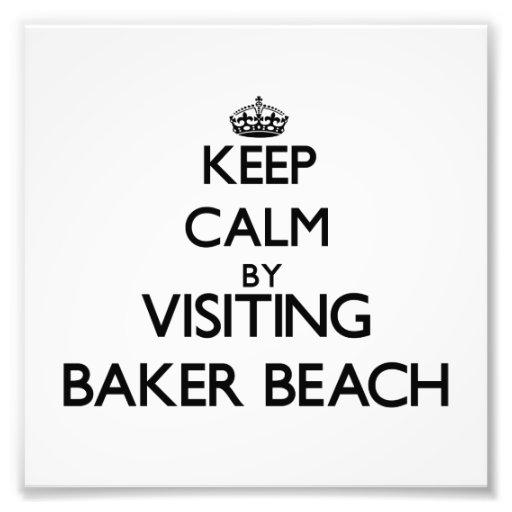 Gardez le calme en visitant la plage la Californie Photographies D'art