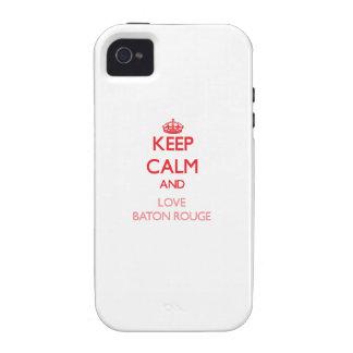 Gardez le calme et aimez Baton Rouge Étui Vibe iPhone 4