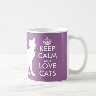 Gardez le calme et aimez la tasse de chats