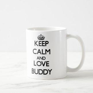 Gardez le calme et aimez l'ami tasses à café