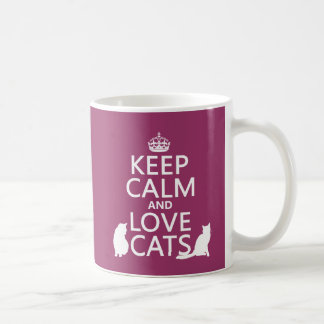 Gardez le calme et aimez les chats mug