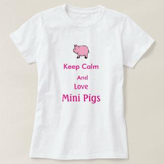 Gardez le calme et aimez les mini porcs, T-shirt