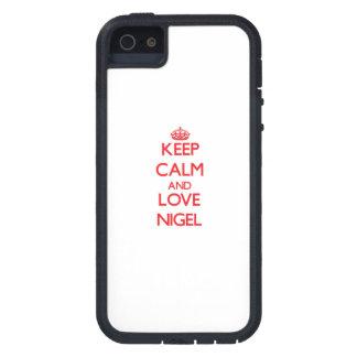 Gardez le calme et aimez Nigel Étui iPhone 5