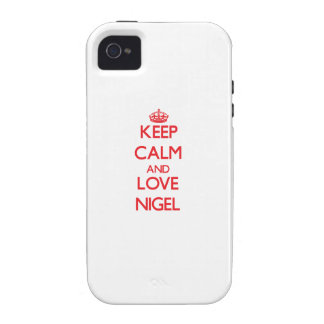 Gardez le calme et aimez Nigel Étui Case-Mate iPhone 4
