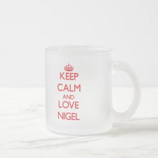 Gardez le calme et aimez Nigel Mug À Café