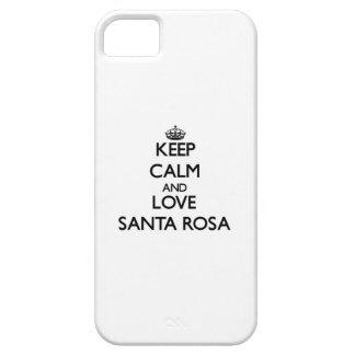 Gardez le calme et aimez Santa Rosa iPhone 5 Case