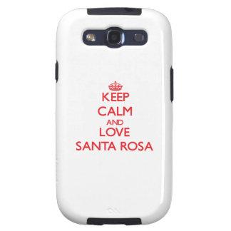 Gardez le calme et aimez Santa Rosa Étuis Galaxy S3