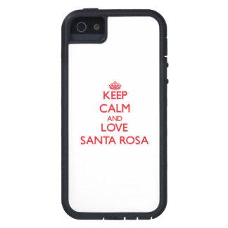 Gardez le calme et aimez Santa Rosa Coques iPhone 5