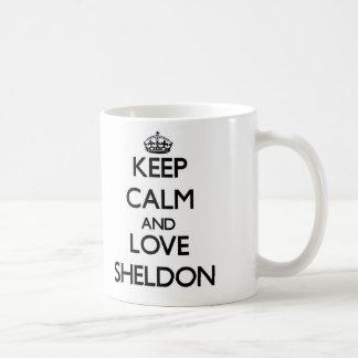 Gardez le calme et aimez Sheldon Mug Blanc