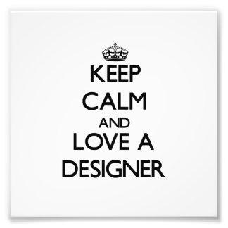 Gardez le calme et aimez un concepteur photo sur toile