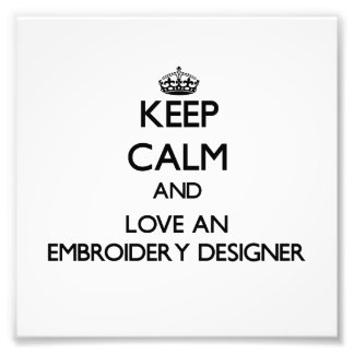 Gardez le calme et aimez un concepteur de broderie photographies d'art