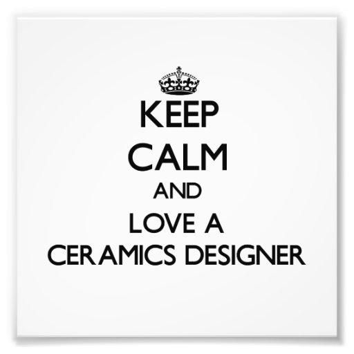 Gardez le calme et aimez un concepteur de céramiqu photo d'art