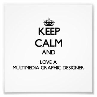 Gardez le calme et aimez un concepteur de multiméd photographe