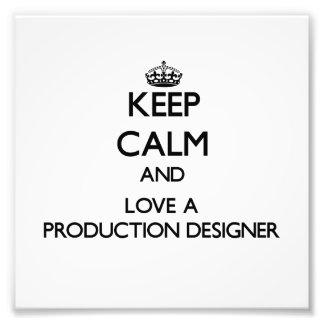 Gardez le calme et aimez un concepteur de producti impressions photo