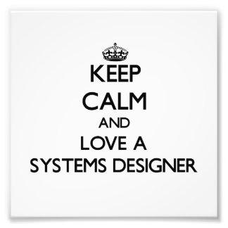 Gardez le calme et aimez un concepteur de systèmes impression photo