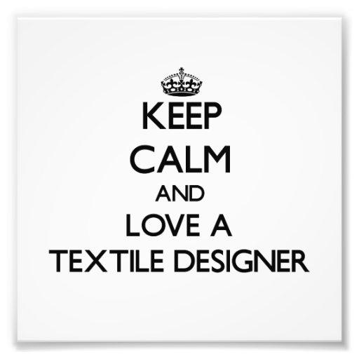 Gardez le calme et aimez un concepteur de textile impression photo
